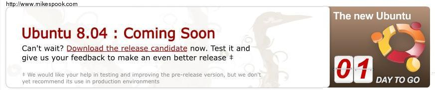 ubuntu 8.04 Coming soon